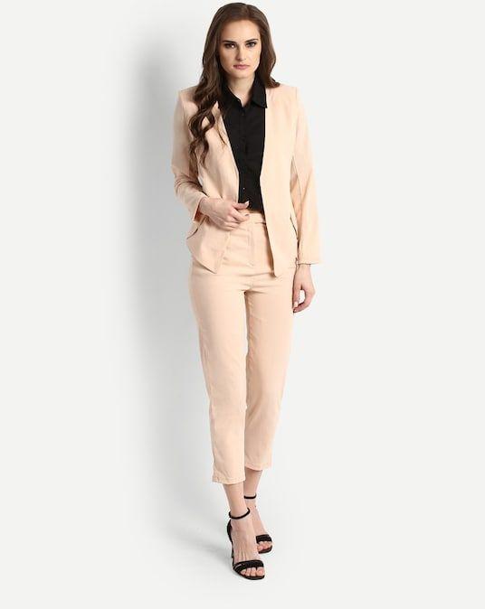 9e2d80f40021 Beige Heidi Suit Co-ords Trousers Set | bhavana formal | Suits, Co ...