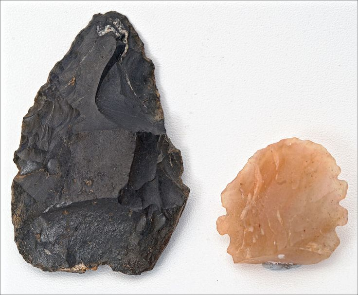 Two Central Queensland Australian Aboriginal Stone Implements or Spear points #Knappedstone
