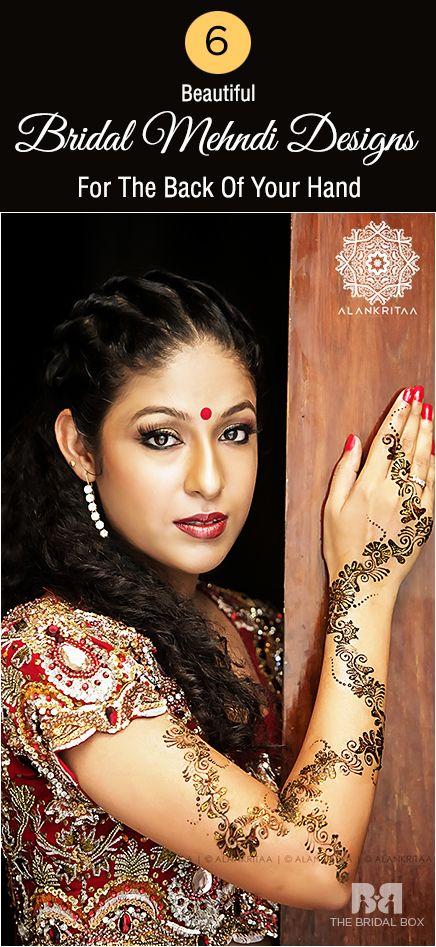 6 Beautiful Latest Back Hand Mehndi Design                              …