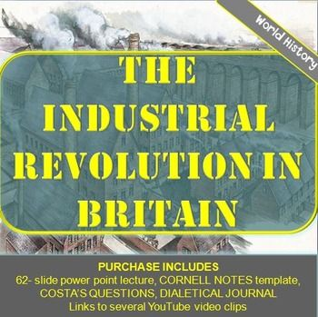 the leading role of britain in the industrial revolution In this lesson, we will explore the industrial revolution in great britain we will look at reasons for britain's industrial leadership, trends in.