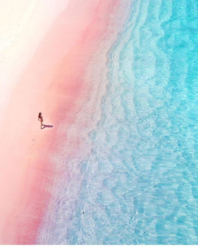 Pink Beach, Indonesia  Photo by @jordhammond