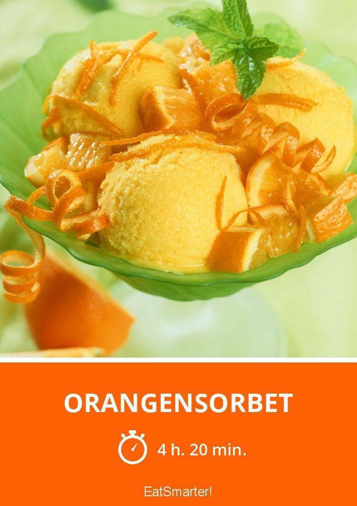 Orangensorbet - smarter - Zeit: 4 Std. 20 Min. | eatsmarter.de