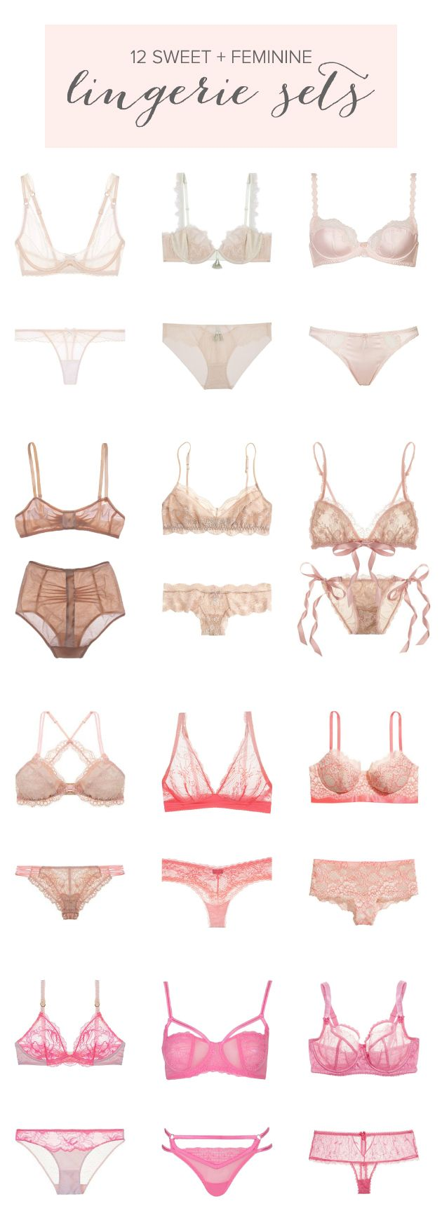 12 Sweet & Feminine Lingerie Sets for Valentine's Day/honeymoon/whenever!