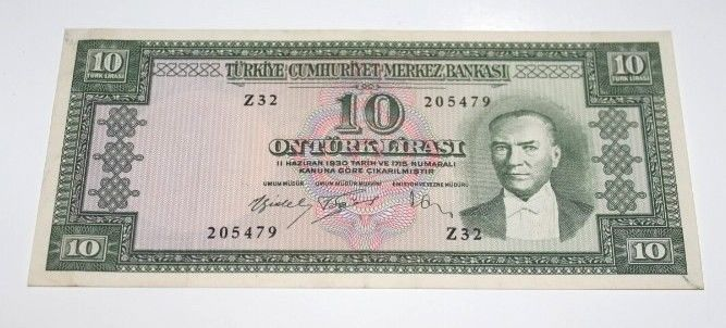 TURKEY 5. EMISSION 4 ISSUE 10 LIRA
