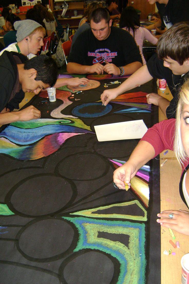 Pastel graffiti collaboration