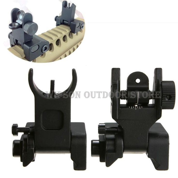 WIPSON Tactical Front and Rear Sights Iron Sights Folding Back-up Battle Sights For Hunting Free Shipping #Affiliate