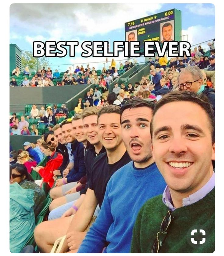That's such a cool selfie