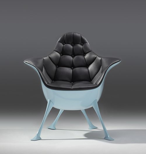 Unique chairs by The Chair LTD. The C chairs collection is fun yet sophisticated. Durable on the inside with a fiberglass shell and honeycomb structure, its luxurious finish of Chinese silk and leather makes it nothing short of amazing!