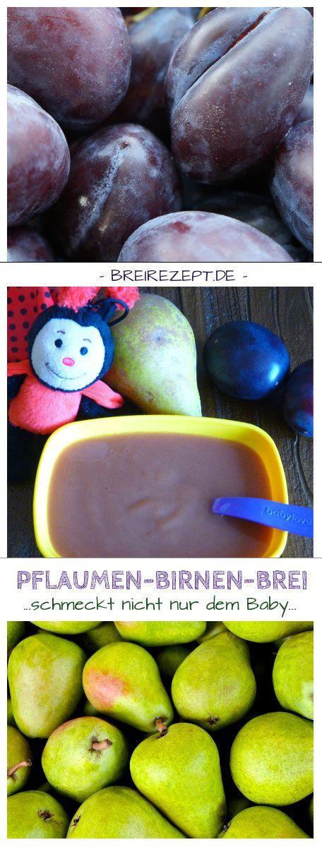 Ein Obstbrei mit Birnen und Pflaumen ist ein toller Babybrei, der dem Baby bei der Verdauung hilft, da er gegen Verstopfung wirkt. Unser Rezept eignet sich für den normalen Pürierstab, den Thermomix und den Event Dampfgarer und passt perfekt zu Grießbrei oder in selbstgemachte Quetschies: http://www.breirezept.de/rezept_birnen-pflaumen-brei.html