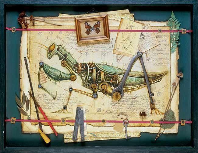 Kartiny-mexanicheskix-zhivotnyx-i-nasekomyx-v-stile-stimpank--6-foto