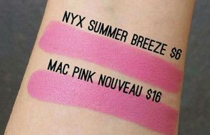 MAC Pink Nouveau Drugstore Dupe, check it out at http://makeuptutorials.com/mac-lipstick-makeup-dupes/
