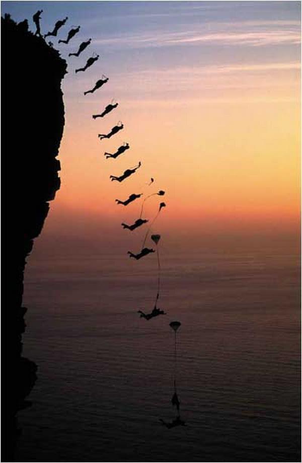 Hoppe BASE | Base-hopping er en aktivitet som gir sug i magen! Man hopper fra et fast punkt med fallskjerm eller vingedrakt og slipper garantert løs sommerfuglene i magen.