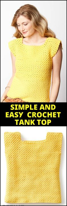 Simple and Easy Crochet Tank Top - 110+ Free Crochet Patterns for Summer and Spring - Page 8 of 12 - DIY & Crafts