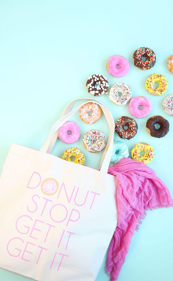 DIY Donut Tote Bag