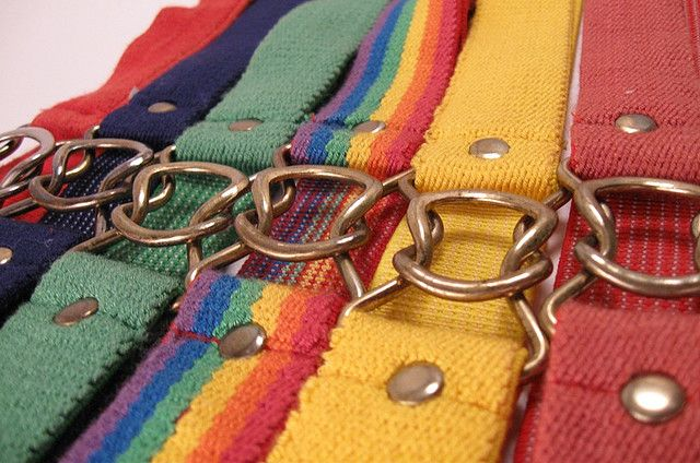 Stretch Belts...I'm noticing that we had a thing for rainbows back in the 70's