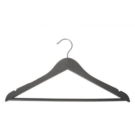 Wooden Suit Hangers - Nahanco Line - 17 inch Greywash - Home Use