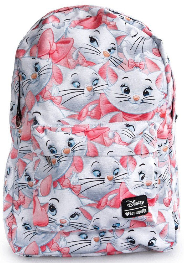 Loungefly Disney Marie Aristocats White Cat Girls' Laptop Backpack –…