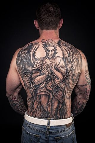 Cool 25 Angel Tattoo Designs For Back