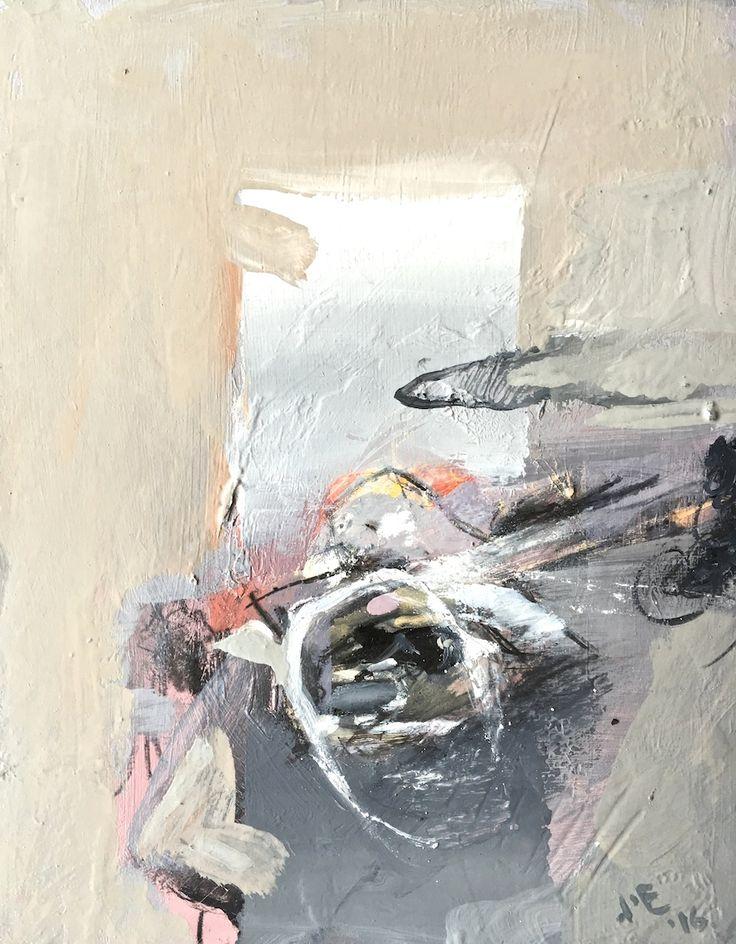 ELAINE d'ESTERRE - Shadows in the Desert are Strange, 2016, oil on gessoed board, 12x8 cm. #surrealportraiture #australianoutback #http://elainedesterreart.com/ also at#http://www.facebook.com.elainedesterreart/ and #http://instagram.com/desterreart/