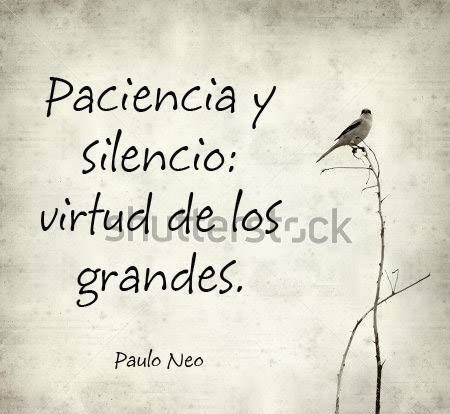 〽️Paciencia y silencio...
