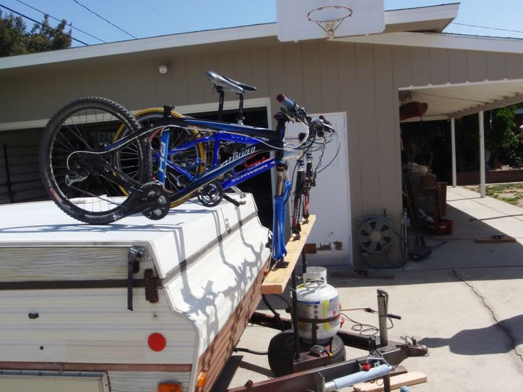 Bike Rack For Pop Up Trailer Diy Ideas Pinterest Camping