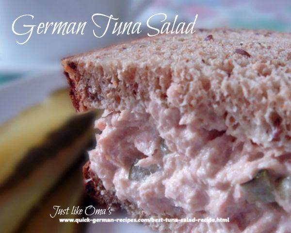 Not just your everyday-kind of tuna salad, but something a bit more special. check out http://www.quick-german-recipes.com/best-tuna-salad-recipe.html