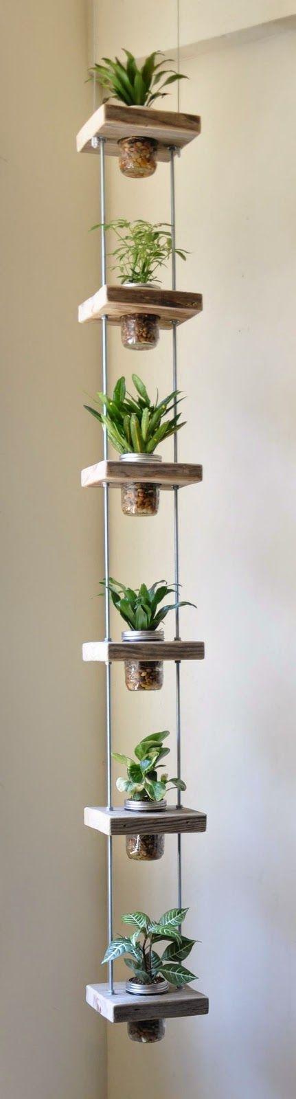 diy inspiration vertical garden perfect for small balconies *barra roscada enegrecida