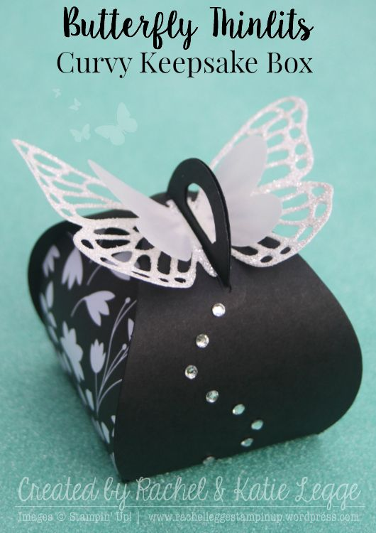 Stampin' Up! Butterfly Thinlits Curvy Keepsake Box | Gold Coast Convention 2015 Swaps | Created by Rachel and Katie Legge, Inspired by Erica Cerwin rachelleggestampinup.wordpress.com #StampinUp #inspirecreateshare2015 #convention2015 #conventionswaps