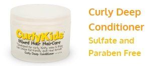 cool CurlyKids Curly Deep Hair Conditioner, 8 Ounce