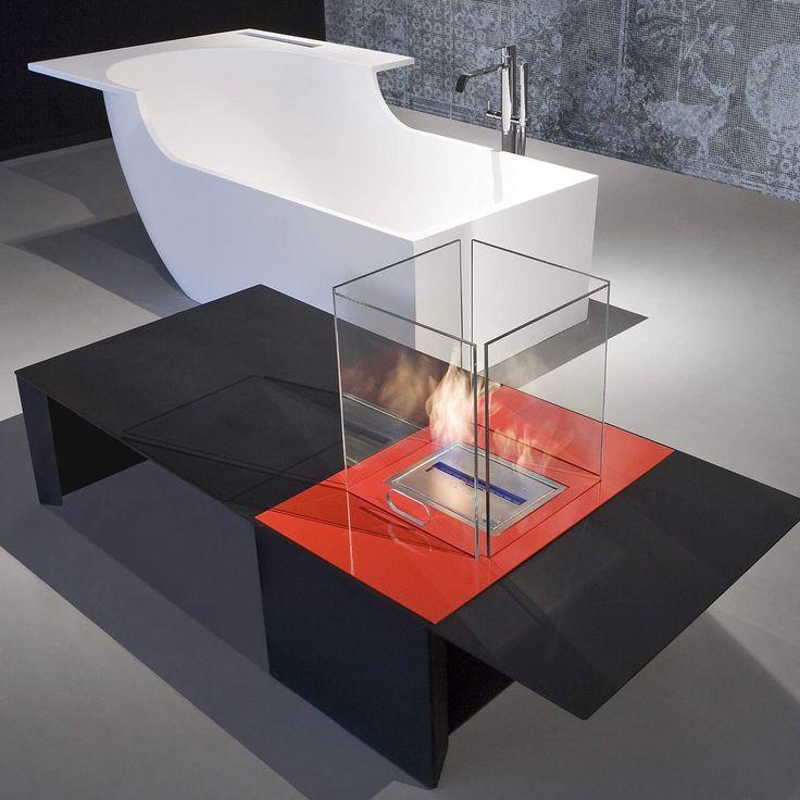Antoniolupi şömine ''DRAGO'' koleksiyonu, Tasarımcı Riccardo Fattori. Antoniolupi fireplaces ''DRAGO'' collection, designer Riccardo Fattori.