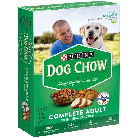Purina Dog Chow Complete Adult with Real Chicken Dog Food 16 oz. Box
