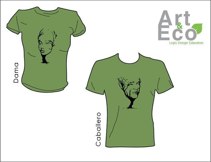 Propuesta de playeras para la empresa ecológica Art and Eco.