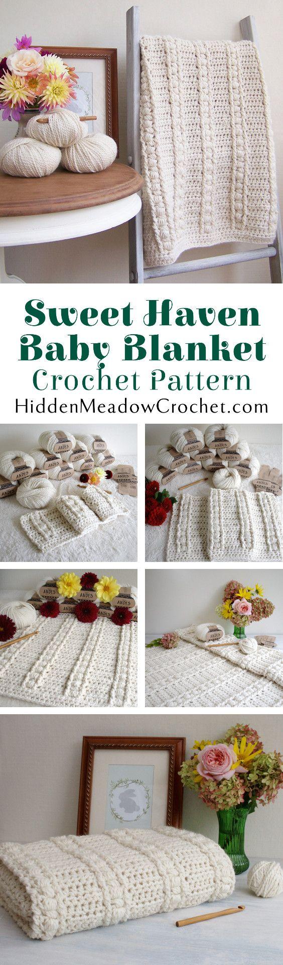 716 best crochet baby blankets images on pinterest carpets crochet pattern sweet haven baby blanket p124 bankloansurffo Gallery