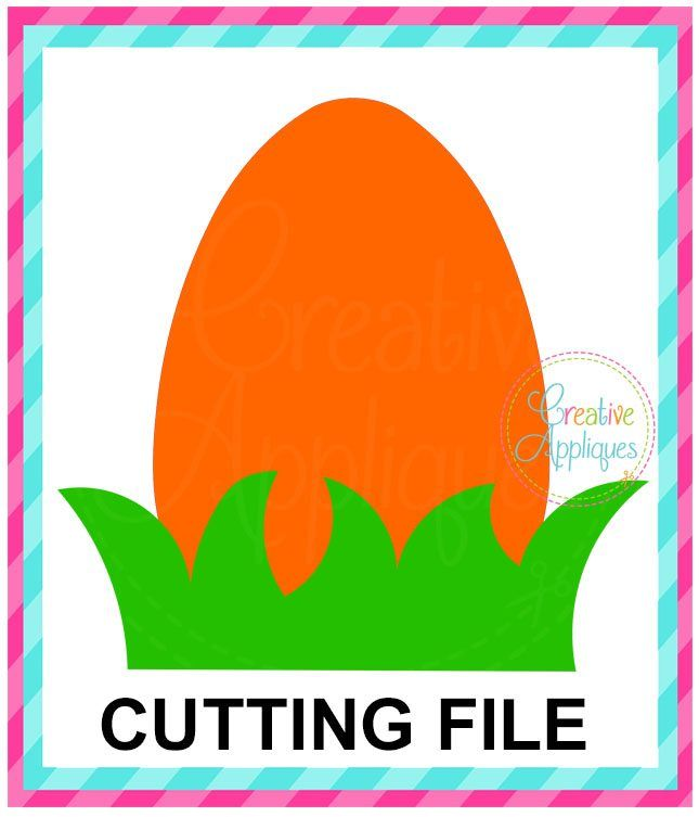 Easter with Grass Cutting File SVG DXF EPS | EASTER SVG CUTTING