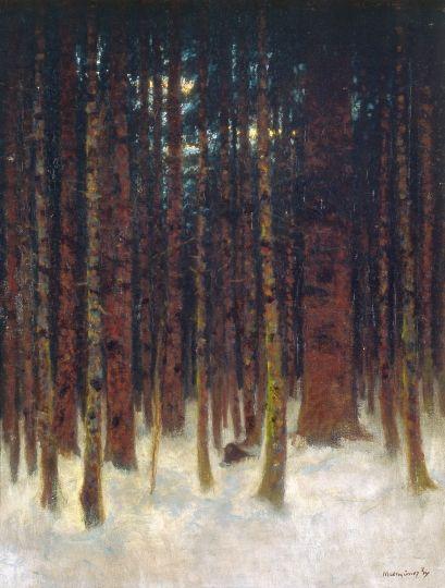 Mednyánszky László - Téli erdőrészlet