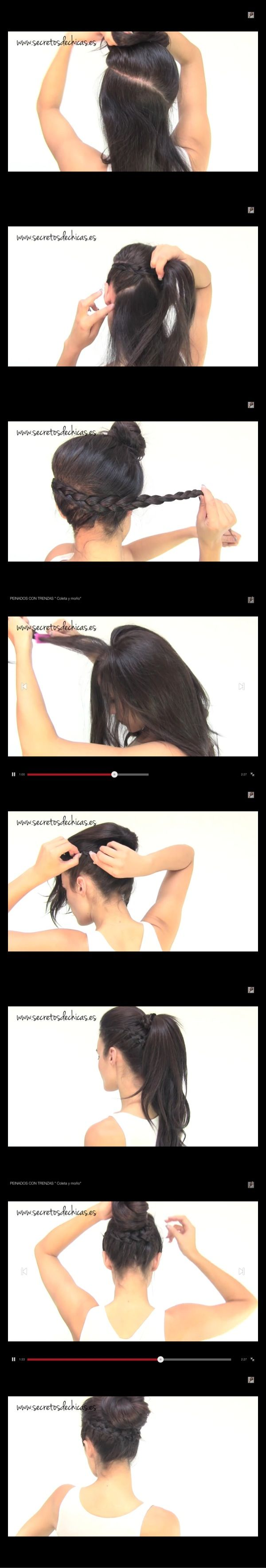 Peinado fácil con trenza