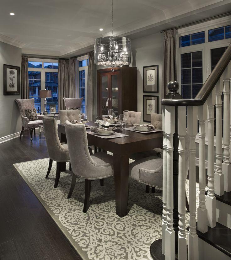 4 Elegant All Grey Living Rooms: Lavender Model Living Room And Dining Room