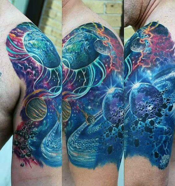 Star Sleeve Tattoo Men's Designs