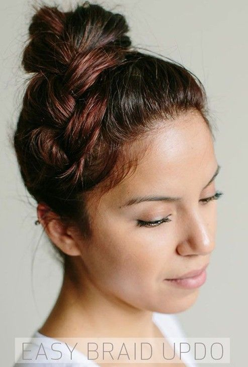 Groovy 1000 Ideas About Easy Braided Updo On Pinterest Hairstyle For Short Hairstyles For Black Women Fulllsitofus