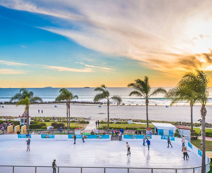 Experience San Go S Only Beachfront Ice Skating Rink