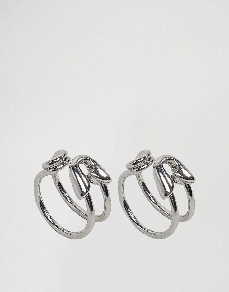 CHEAP MONDAY SAFETY PIN RING - SILVER. #cheapmonday #