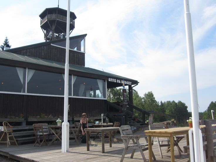 Uppe på berget -cafe on top of a big hill. Great scenery! #Åland #fillarilla