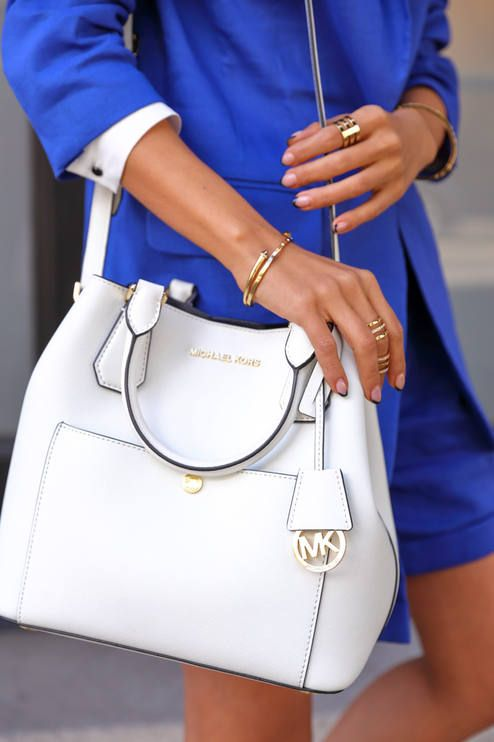 #street #style blue + white MK / details @wachabuy