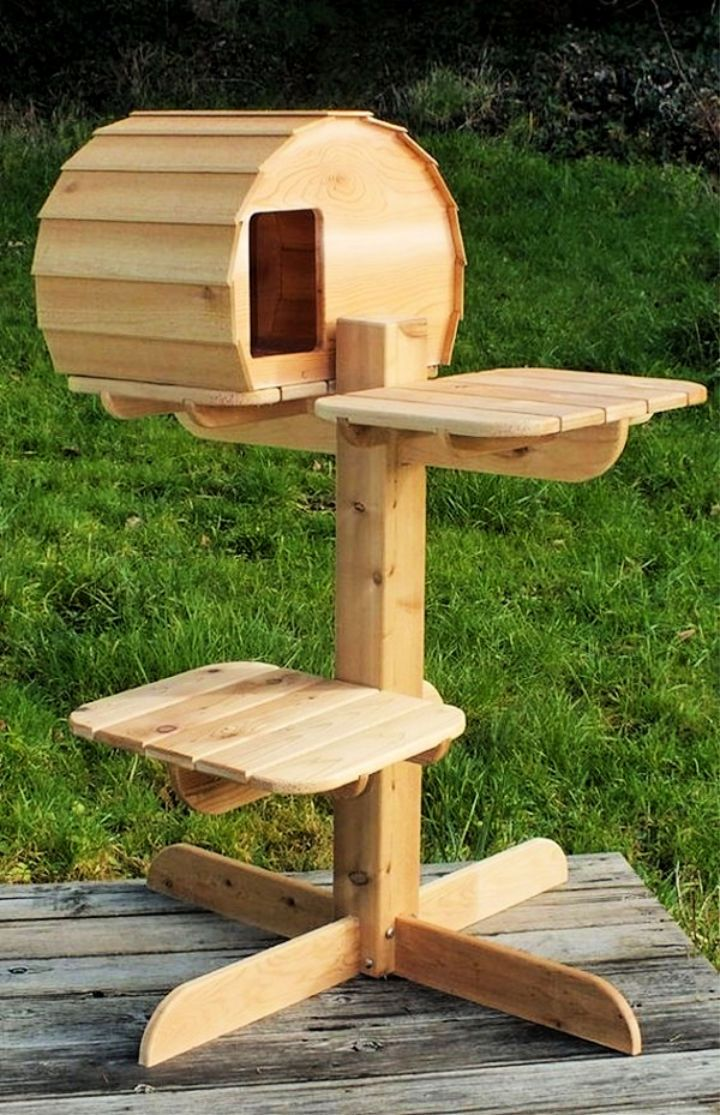 15 Best Outdoor Cat Tree Ideas And Plans Outdoor Cat House Cat Tree House Outdoor Cat Tree