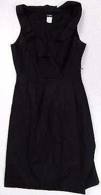 J Crew Size 0 100% Cotton Ruffle V Neck Sleeveless Above Knee Mini Dress