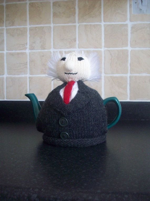 Knitted Tea Cosy  Cosie Cozy  Michael Higgins President of Ireland Shabby Chic