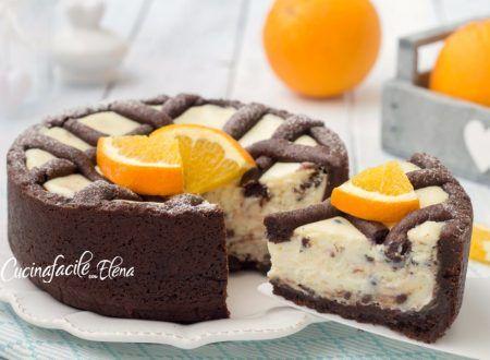 Crostata ricotta arancia e cioccolato