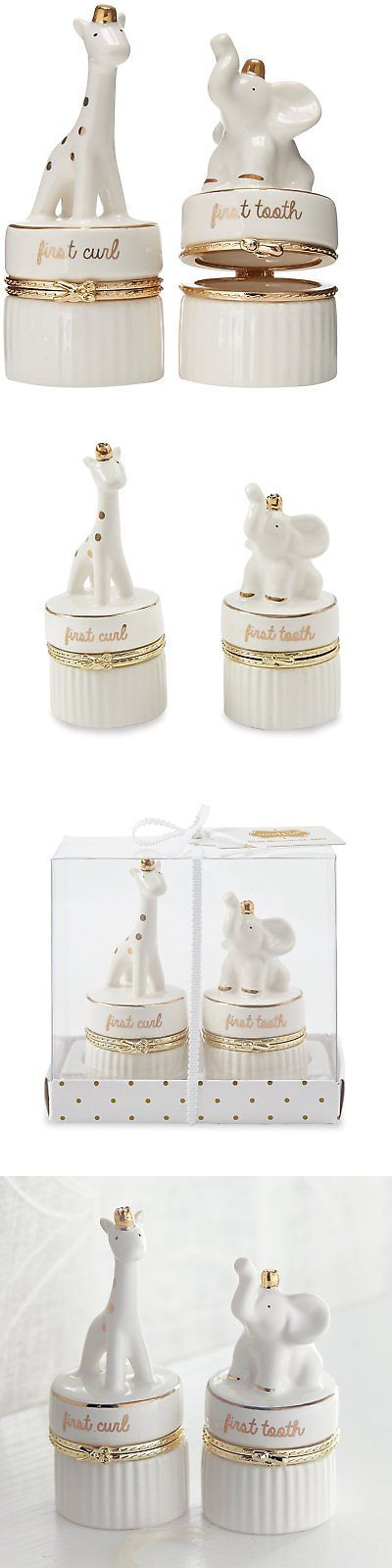 Baby Boxes 117390: Mud Pie Giraffe And Elephant Ceramic Tooth And Curl Set, White Gold -> BUY IT NOW ONLY: $34.08 on eBay!