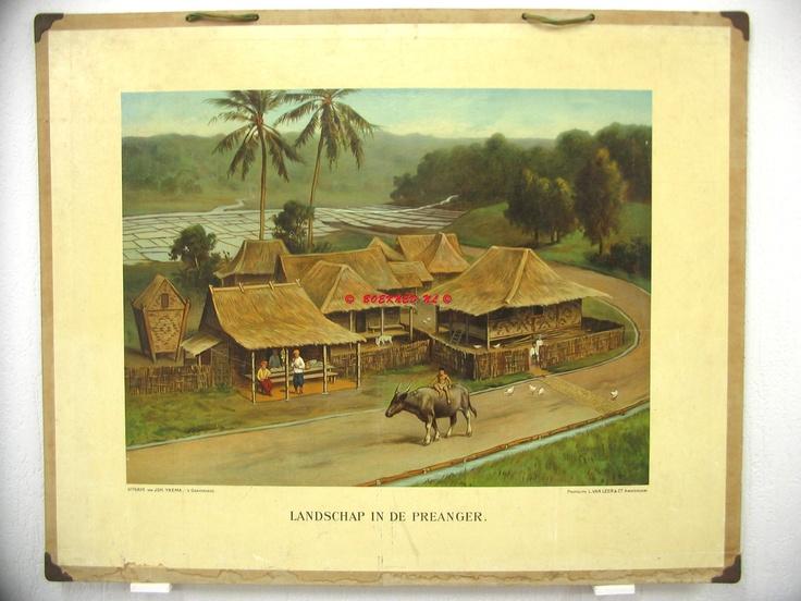 Landscape around west Javanese village Preanger
