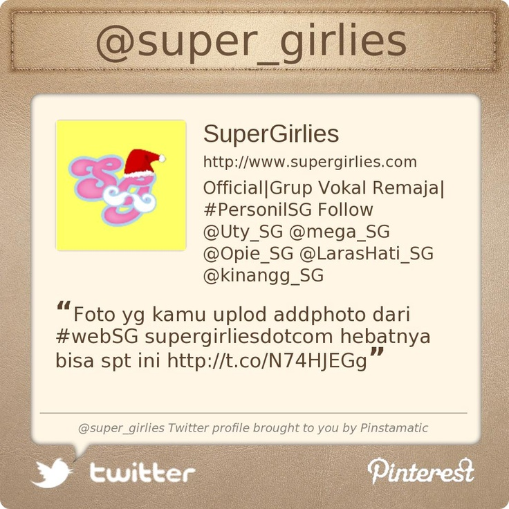 supergirlies - Twitter profile courtesy of @Pinstamatic